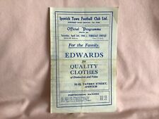 More details for ipswich town fc v torquay united rare match programme 1948 april 3rd well used