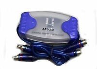 Two Channel Ground Loop Isolator AP3052 Audio Curciut Remove Noise Filter 2 RCA