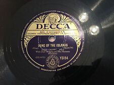 """BING CROSBY """"Aloha He""""/""""Song Of The Islands"""" 10"""" 78rpm 1938  EXC+"""