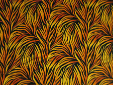 FLAMES ORANGE YELLOW PLUME FLAME COTTON FABRIC FQ OOP
