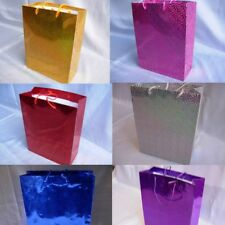 More details for medium shiny paper carrier gifts bags h 27cm, x w23cm christmas wedding party