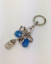 BRIGHTON SILVER KEY CHAIN LADYBUG LOCKET HORSE SHOE HEART CHARMS