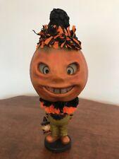 Bethany Lowe Halloween Rotten Pumpkin Clown --votive included—Retired