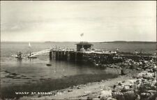 Bayside ME Steamboat Wharf Dock Real Photo Postcard