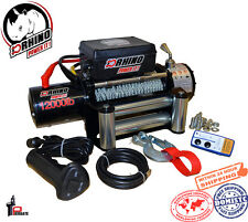 D-Rhino 12000lb 12V Electric Recovery Winch Truck SUV ATV Tow Trailer Kit Remote