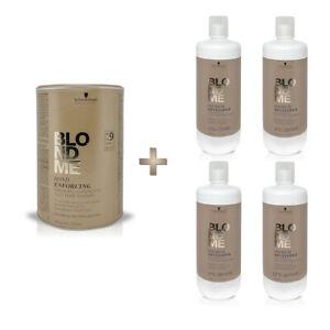 Schwarzkopf BlondMe Premium9 450g Aufheller + 1x Premium Developer Oxydant
