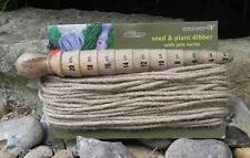 Seed and Plant Dibber with Jute Twine -  Garden - Gift - Apples to Pears