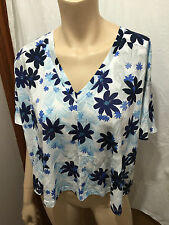 BNWT Ladies Sz 12 Myer Piper Pretty Floral V Neck Short Sleeve Crop Top RRP $50
