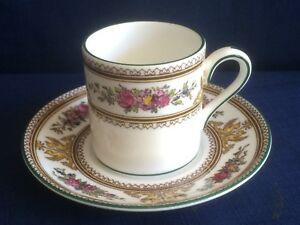 Wedgwood Columbia enamelled (W595) small coffee can & saucer