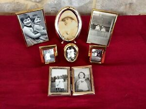 Lot Vintage Picture Photo Frame,Old Photos,Silver Plate,Brass,Feature Display