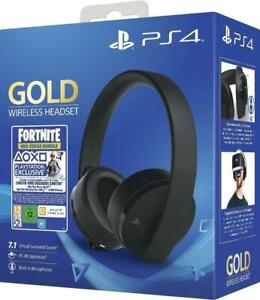 Sony PS4 Wireless-Headset Gold Edition(7.1 Surround Sound, kabellos, Bluetooth)