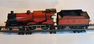 Vintage/antique Bassett Lowke/Bing O gauge clockwork LMS 1104 locomotive 4-4-0
