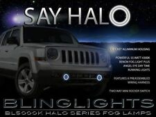 2007- 2017 Jeep Patriot White Angel Eye Fog Lamps Halo Driving Kit Xenon Halogen