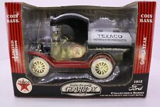 Gearbox Toy Texaco 1912 Ford Oil Tanker Truck Diecast Coin Bank 1:24 NOS