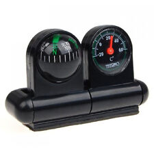 Black Auto Navigation Compass Ball with Thermometer -20? to +60? DT