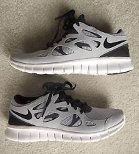 NIKE Free Run 2 Shoe NEW 6 Wolf Gray / Black Anthracite / White Sneakers
