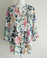 Fellahamilton Floral Cottagecore Button Down Long Sleeve Shirt Blouse Size 12