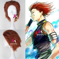 HUNTER HUNTER Hisoka Wig Short Straight Orange Auburn  Color Party Cosplay Wig