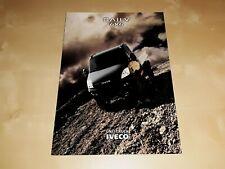 Iveco Daily 4x4 prospekt/brochure/folder j.polski
