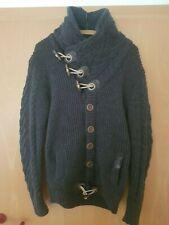 LEIF NELSON Herren Jacke Pullover Strickjacke LN5340 Blau-Indigo XL