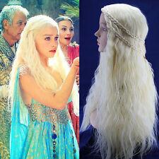 2Daenerys Targaryen Dragon Princess Game of Thrones Braiding Wave Cosplay Wig