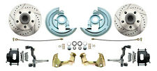 GM 1964-74 A, F, X Performance Disc Brake Kit Drilled/Slotted Rotors, BLK PC Cal