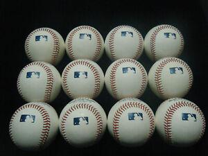12 MLB Manfred Baseballs great white sweetspots gently used