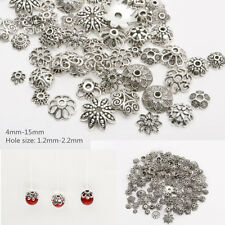 45g (about 150PCS)  Mixed Tibetan Silver Spacer Beads Caps  FOR JEWELRY MAKING