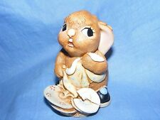 Pendelfin Stoneware Rabbit Butterfingers Blue Burnley England Boxed