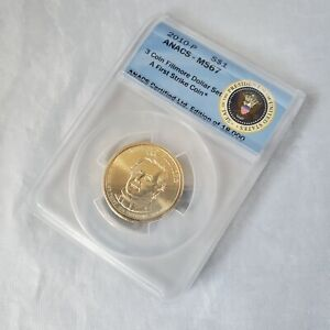 2010-P Millard Fillmore Presidential Series Dollar - ANACS MS67 Mint State Coin