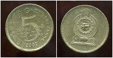 SRI LANKA   5 rupees  2002