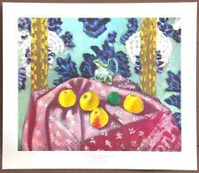 Henri Matisse Still Life  Apples on Pink Tablecloth Vintage Original 1954 Litho