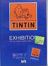 Tintin. Feuillet  publicitaire pour l'exposition TINTIN en 1996/97 au Japon