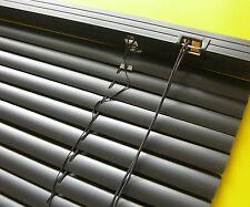 PVC Jalousie Jalousette Kunststoff Lamellenrollo Fenster Rollo Schwarz 110 x 160