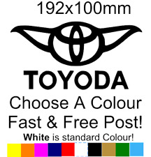 Toyoda Sticker Star wars toyota decal bumper car van sticker funny