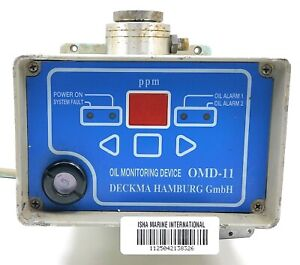 Deckma Hamburg GMBH OMD-11 Oil-In-Water Monitor Instant Alarm & Delayed Alarm M