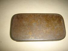 India Rare One Small & Thin Empty Tin Box Size 2.1/2+ ' X 1.1/4+ ' X 0.1/4 '