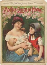 Mother-Queen Of Home, Chicago Sunday Chronicle Newspaper Supplement Music, 1901