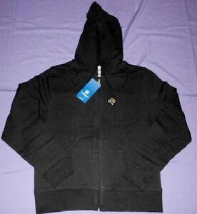 Jacksonville Jaguars Hoodie Ladies Small Black Full Zip Reebok NFL Womens Jacket