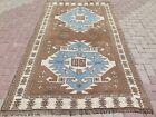 "Vintage Anatolia Kars Nomads Carpet, Wool Rug, Handmade, Teppich, Tapis 58""x94"""