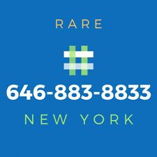 646 Area Code Phone Number - Rare Vanity Number [883-8833]