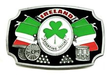 Ireland Belt Buckle Tri Colour Flag Irish Patriot Authentic Dragon Designs