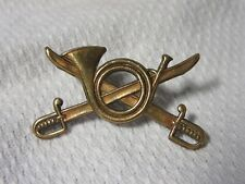 Lot13 - Unknown Military Collar Badge (I Think) - Crossed Swords & Horn