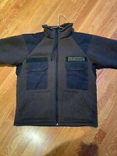 vintage fleece army jacket size medium brown