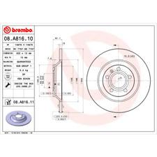 Disco de freno (2 trozo) coated disc Line-Brembo 08.a816.11