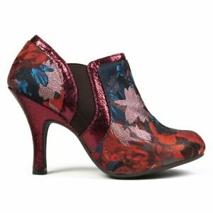 RUBY SHOO Womens Juno Ankle Boots Maroon