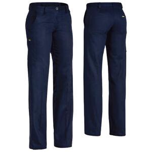 Bisley BPL6007 Women Original Cotton Drill Pant 5 Pockets Size: 18 NAVY Female