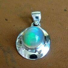 AAA Ethiopian Opal & Sterling Silver Pendant October Birthstone 4.2g