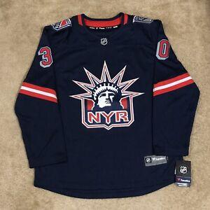 Henrik Lundqvist New York Rangers Lady Liberty Reverse Retro NHL Hockey Jersey L