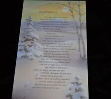 16 Vtg UNUSED Greeting Cards CHRISTMAS Religious FOOTPRINTS Quote Olympicard